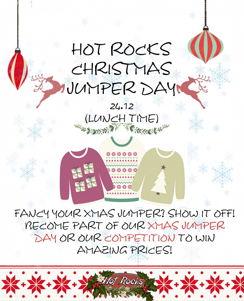 Hot Rocks Christmas Jumper Day Competition